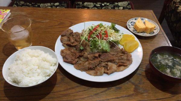 フィレンツェ 生姜焼き定食